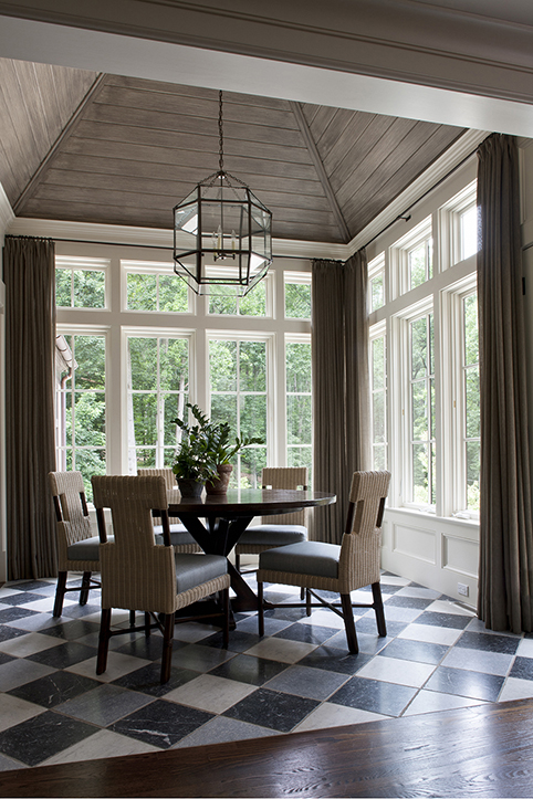 Varied Ceilings Give Home Personality